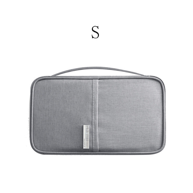 Agatha Travel Accessories Document Holder Gray S