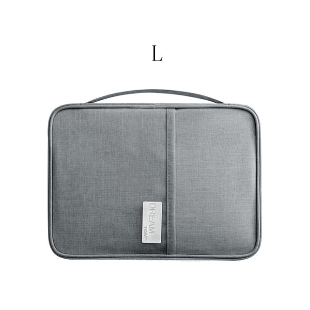 Agatha Travel Accessories Document Holder Gray L