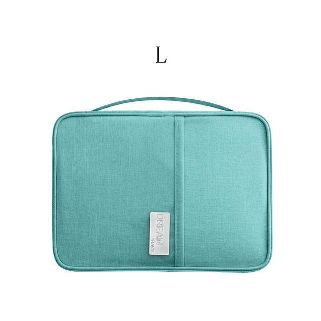 Agatha Travel Accessories Document Holder Blue L