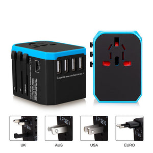 Agatha Travel International Plug Adapter Black Blue