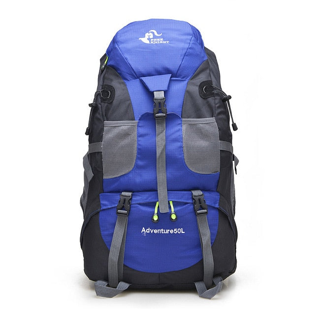 Agatha Travel Camping Hiking Travel Backpack Blue