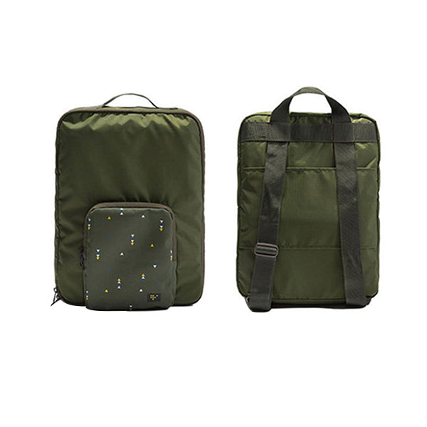 Agatha Travel Accessories Folding Backpack Dark Green