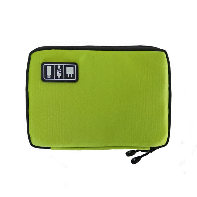 Agatha Travel Luggage Electronic Organizers Green