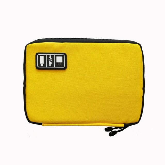 Agatha Travel Luggage Electronic Organizers Yellow