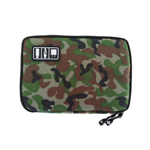 Agatha Travel Luggage Electronic Organizers Green camouflage