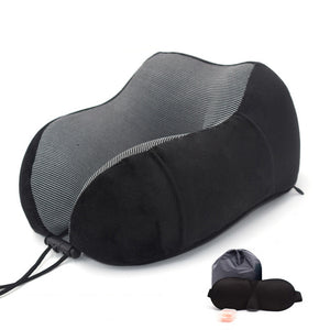 Agatha Travel Sleep Travel Pillow Black Set