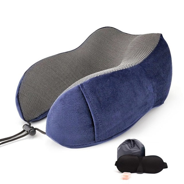 Agatha Travel Sleep Travel Pillow Blue Set