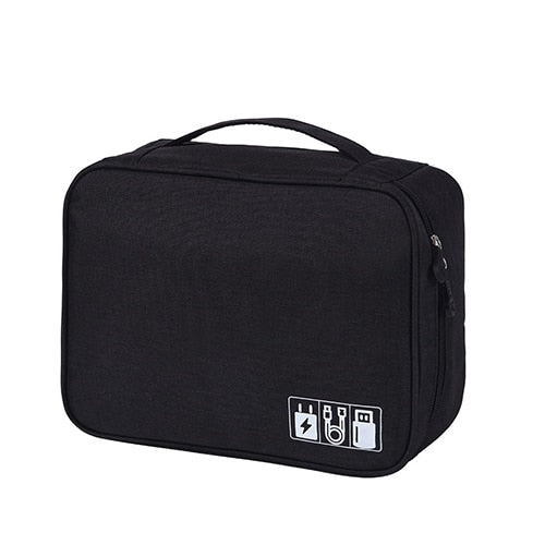 Agatha Travel Bags Travel Electronic Organizers Black