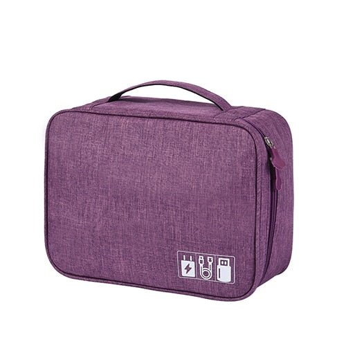 Agatha Travel Bags Travel Electronic Organizers Purple