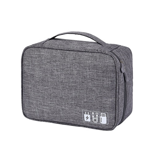 Agatha Travel Bags Travel Electronic Organizers Gray