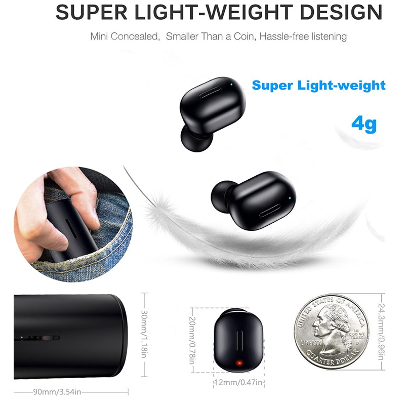 Agatha Travel Mini Wireless Bluetooth Earphones Detail_05