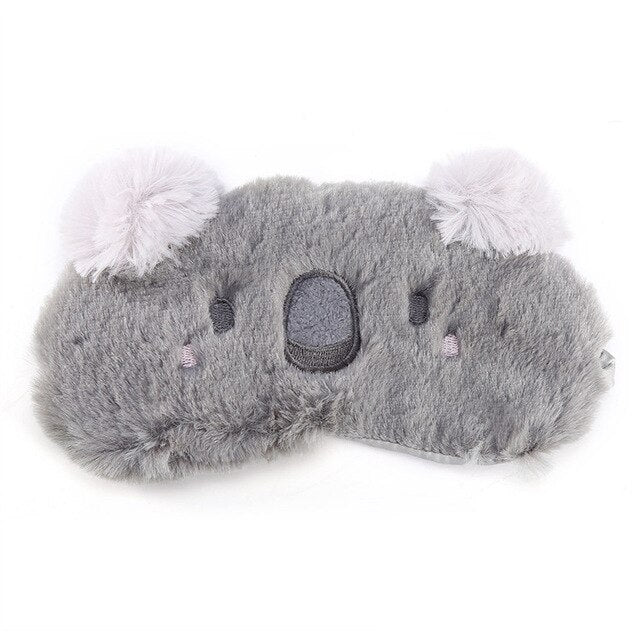 Agatha Travel Health Animal Eye Cover Gray Koala