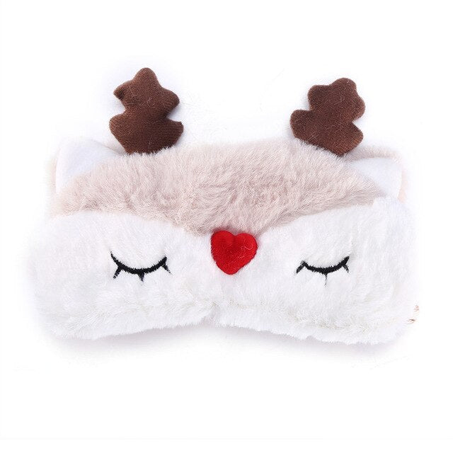 Agatha Travel Health Animal Eye Cover Reindeer