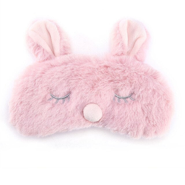 Agatha Travel Health Animal Eye Cover Pink Rabbit