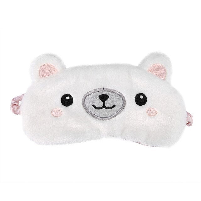 Agatha Travel Health Animal Eye Cover White Bear
