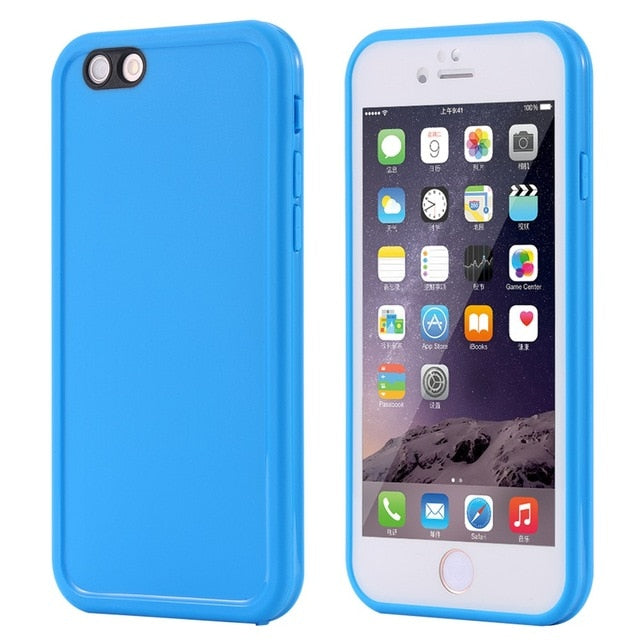 Agatha Travel Waterproof Phone Case for iPhone Blue