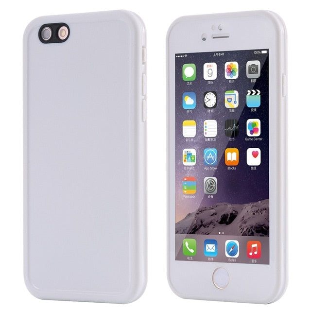 Agatha Travel Waterproof Phone Case for iPhone White