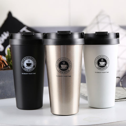 500ml Creative Thermos Double Wall Stainless Steel Coffee Mugs