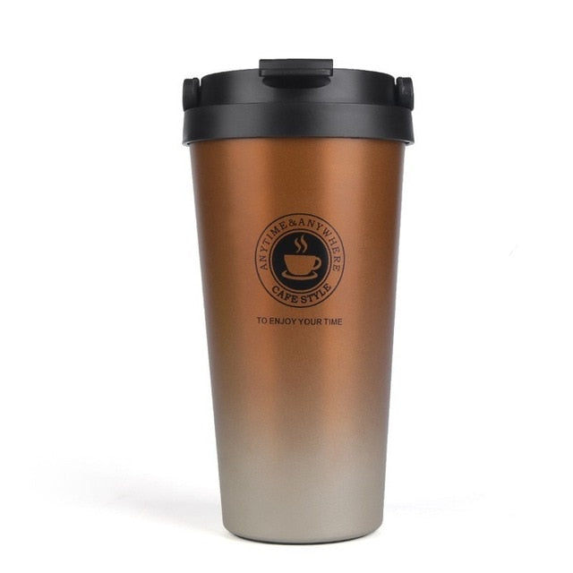 Agatha Travel Health Water Bottle Coffee Mugs Brown