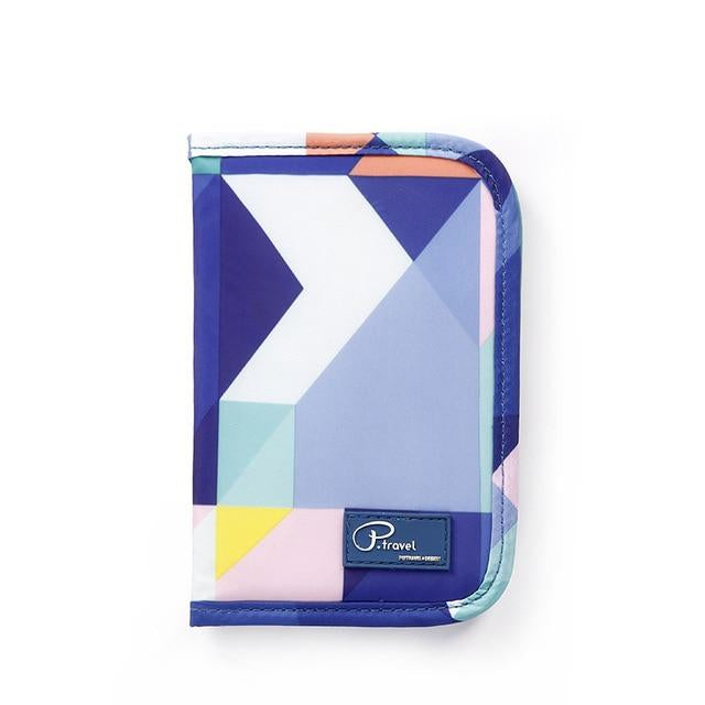 Agatha Travel Accessories Document Holder Wallet Blue geometric