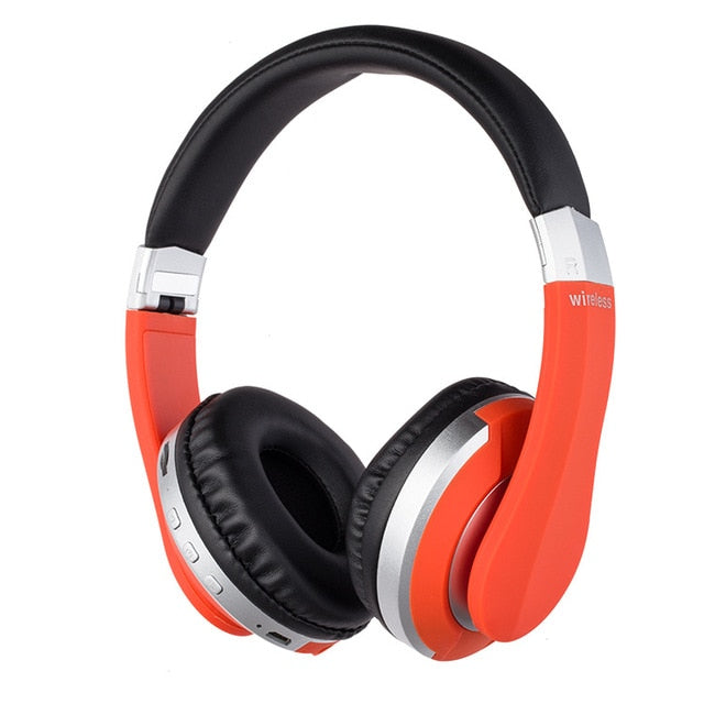 Agatha Travel Wireless Bluetooth Headphones Red