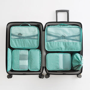 Agatha Travel Accessories Packing Cubes Set Blue