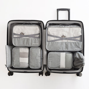 Agatha Travel Accessories Packing Cubes Set Gray