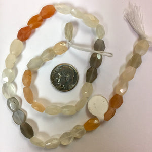 9-19-18-C Quartz, Carnelian and Labradorite Stone Beads