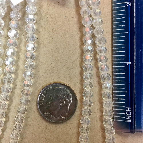 6-10-18-K Clear Glass Round Chinese Crystal Beads