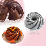 Aluminum Mold Heavy Cake Pan Non Stick 3 Shapes