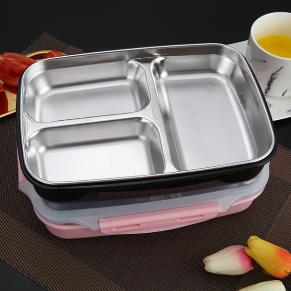 Lunch box Stainless Steel With Compartments Microwavable Thermal Bento
