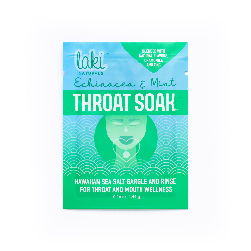 THROAT SOAK Box of 24 variety flavors - Laki Naturals
