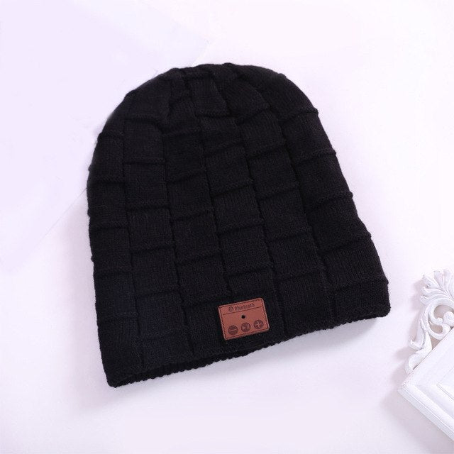 f481183e6ab Smart Cap Sport Bluetooth Soft Winter Hat Headset Wireless Beanie Knitted  Plus Velvet Women Men Unisex