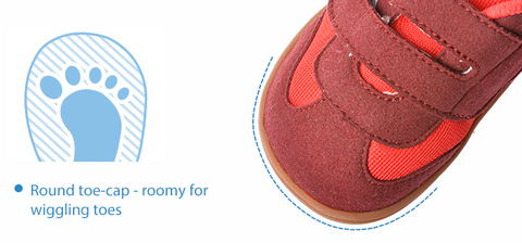 baby shoes with roomy toe cap