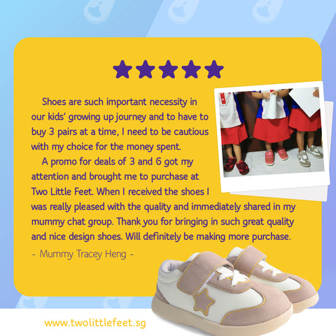 Mummy Tracey Heng Review Of Two Little Feet Kid Star Shoes In Grey