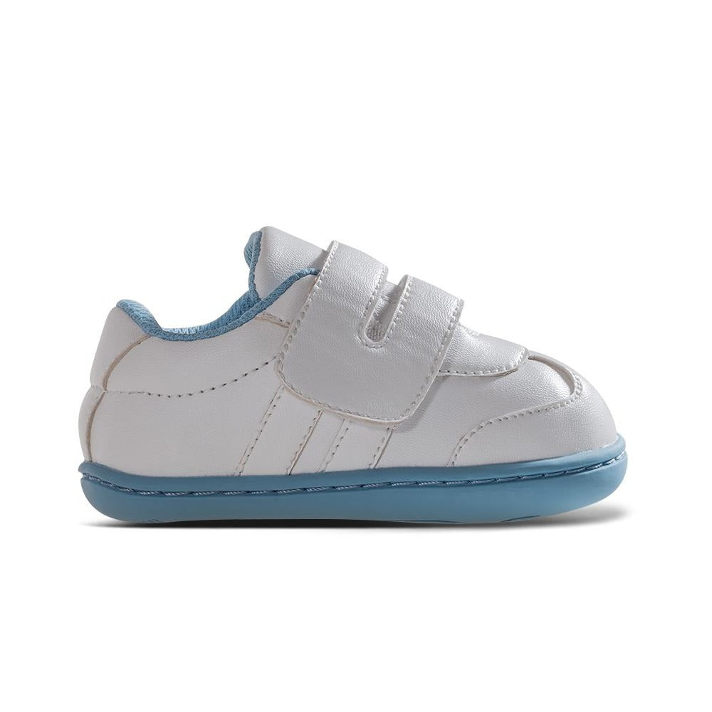 [NEW] Aurora Baby Shoes in White/Capri