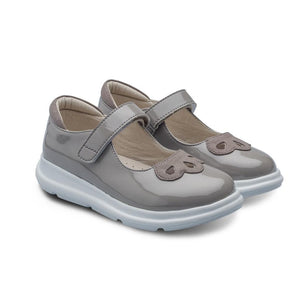 Little Blue Lamb comfortable kids sandals in grey