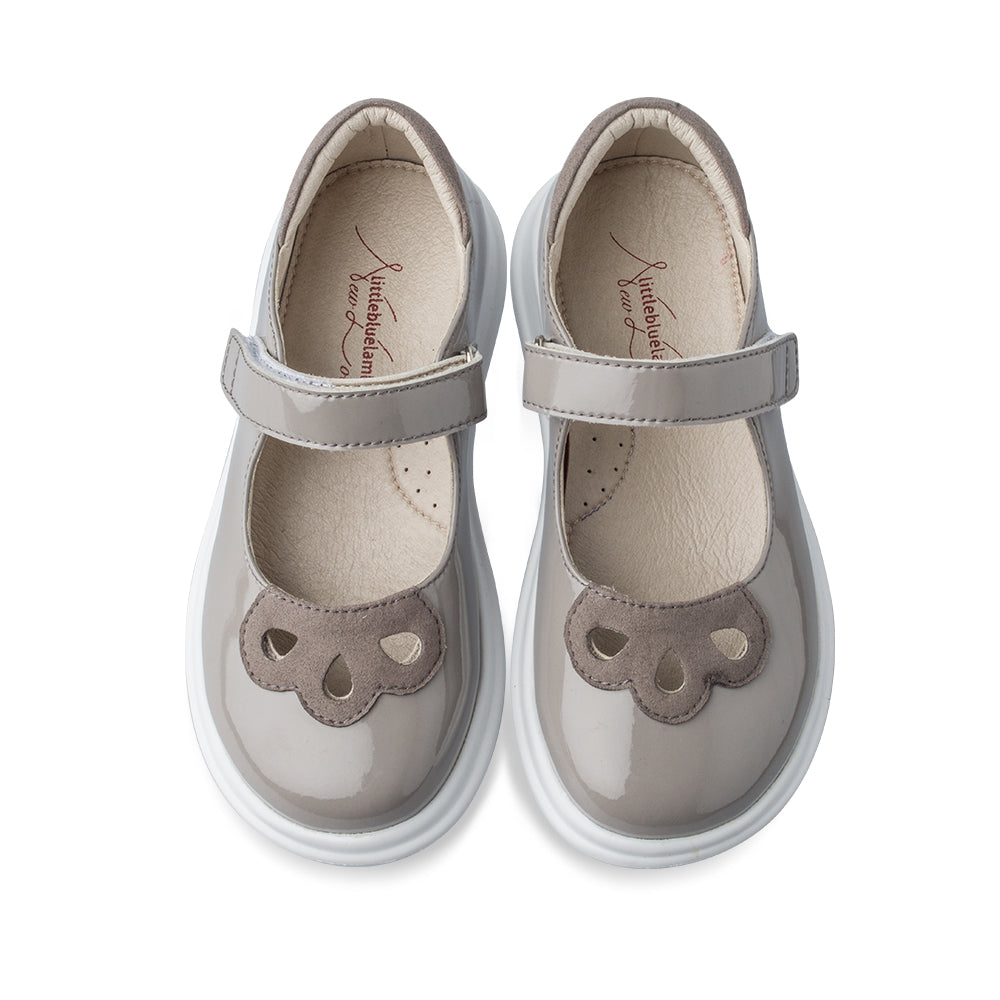 Little Blue Lamb comfortable kids shoes in grey