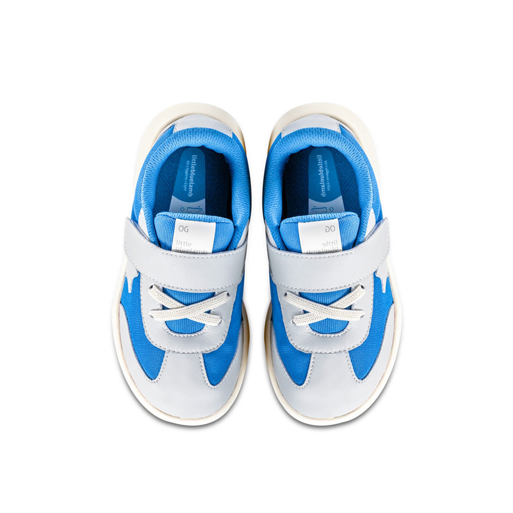 Kids Star Shoes in Blue Textile