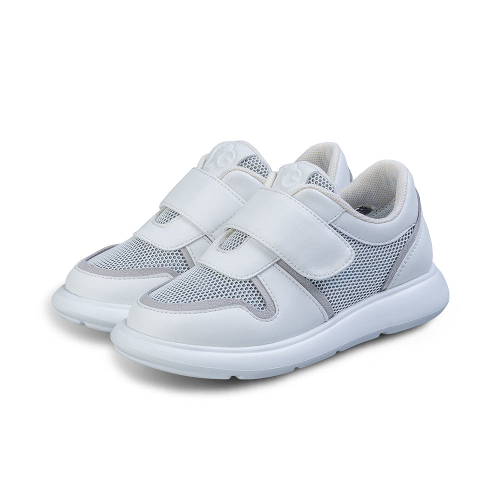 Little Blue Lamb comfortable children shoes in white