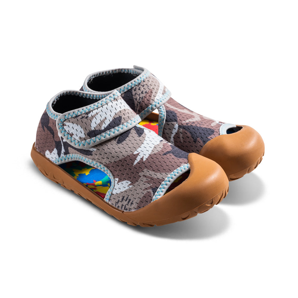 Pixa Kids Beach Sandals in Brown