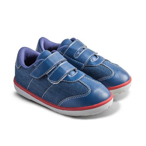 Little Blue Lamb comfortable toddler shoes in blue