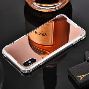 Phone Accessories - Phone Case -  iPhone - Android Luxury Plating Mirror Phone Case