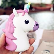 Phone Accessories - Phone Charger - Portable Emoji Power Bank Battery case 2000MAH Charger Unicorn Cartoon USB For Iphone Xiaomi Samsung