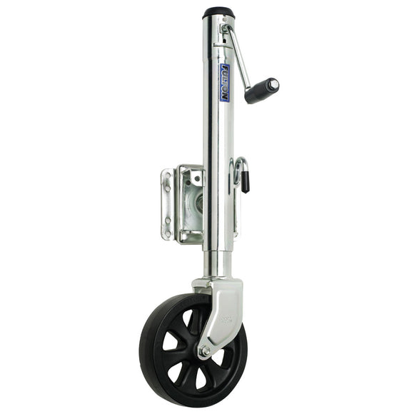 Fulton Single Wheel 1,500 lbs. Bolt-Thru Swivel Jack [XP15 0101] - Fulton