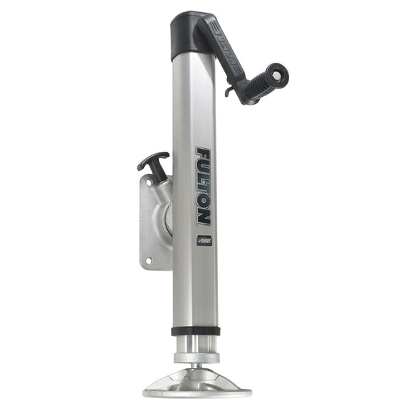 Fulton F2 Trailer Jack Bolt-On 2,000 lbs. Lift Capacity Adjustable Swivel w-Footplate [1413230134] - Fulton