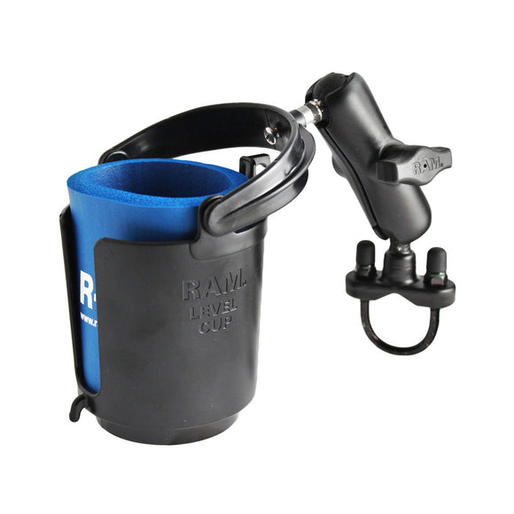 RAM Mount Drink Cup Holder w-U-Bolt Base [RAM-B-132RU] - RAM Mounting Systems