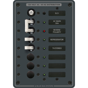 Blue Sea 8101 ELCI GFCI Panel AC 5 Position [8101]