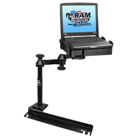 RAM Mount No-Drill Laptop Mount f-Ford Transit Connect, Dodge Grand Caravan, Chrysler Town & Country [RAM-VB-175-SW1] - RAM Mounting Systems