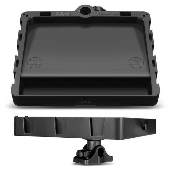 RAM Mount STACK-N-STOW Bait Board w-Combination Bulkhead-Flat Surface Base & Plunger [RAP-395-BMPU] - RAM Mounting Systems